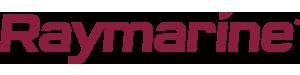 Raymarine logo i burgunder farge