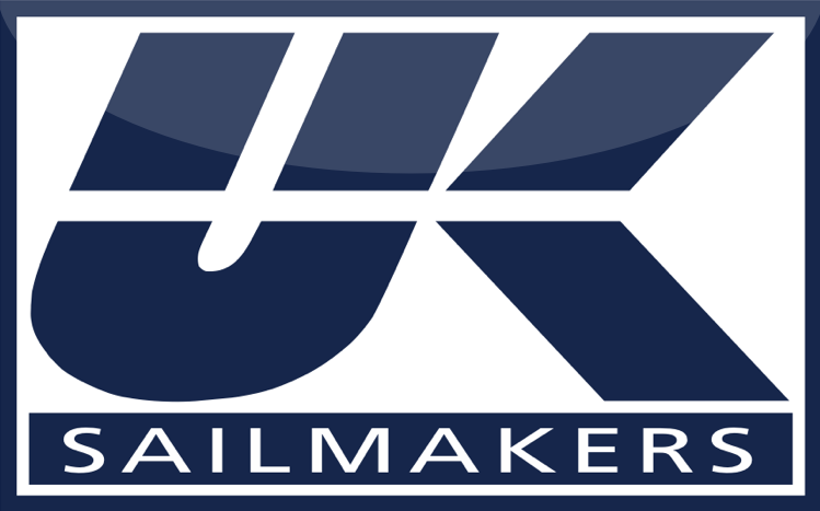 UK Sailmakers logo i blått